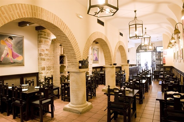Disposición del restaurante Bodegas Mezquita.